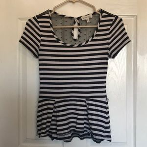 Striped flare tee